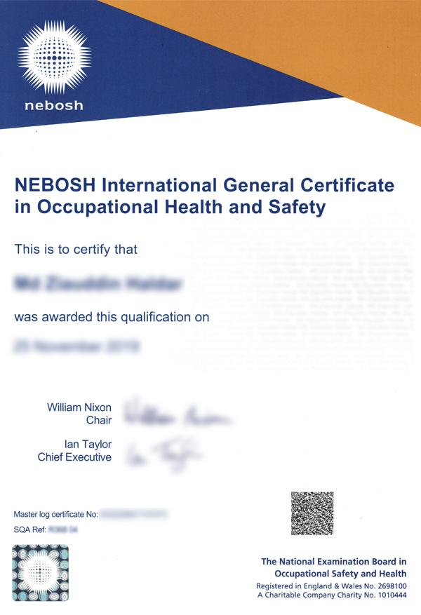 buy nebosh certificate online